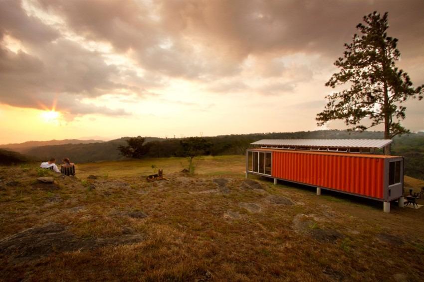 casa de 1 quarto de container