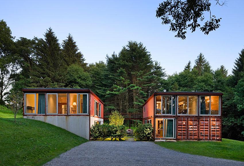 projeto de casa de container alto padrão
