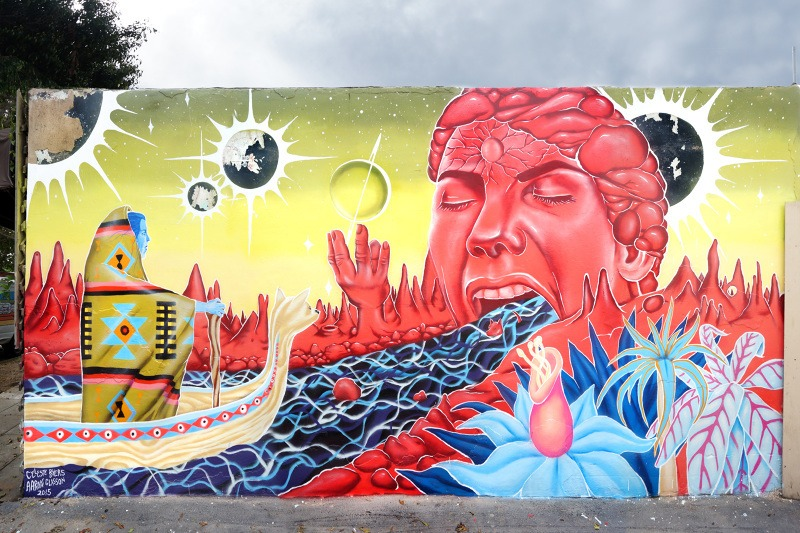 mural vomitando