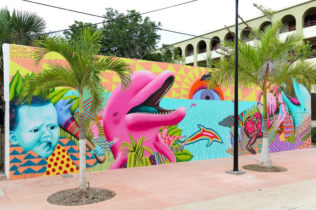 mural golfinho
