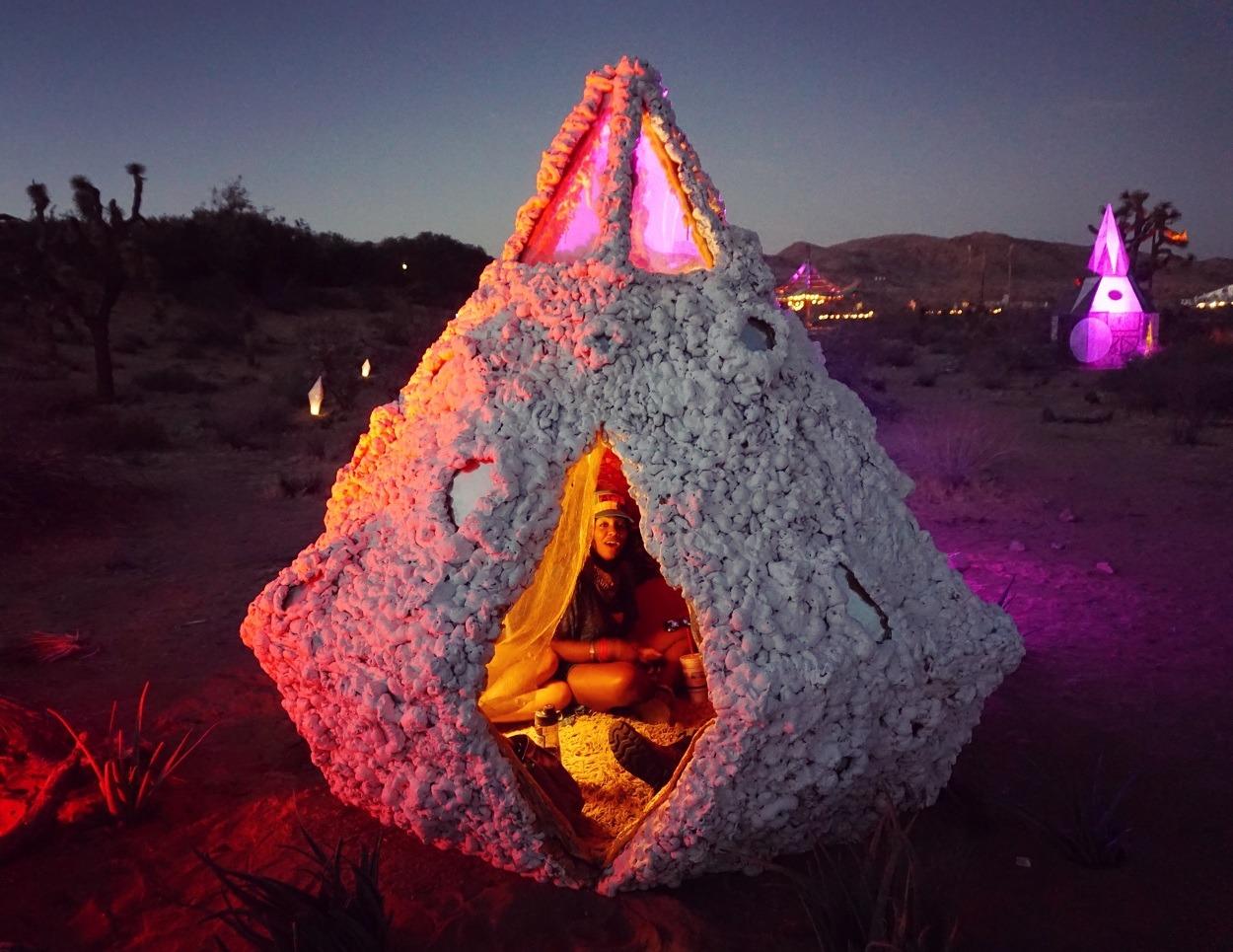 cabana a noite