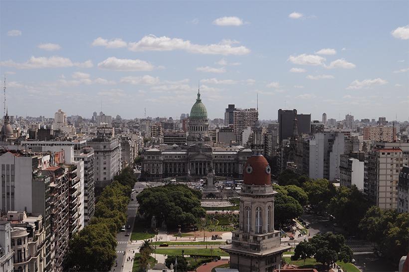 vista do alto de Buenos Aires