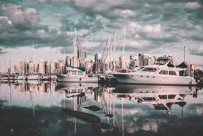 English Bay, em Vancouver, no Canadá.