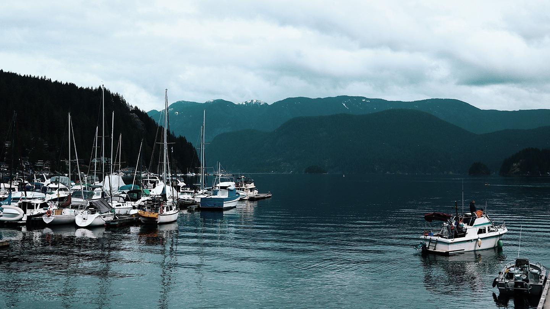 Barcos Atracados em Deep Cove