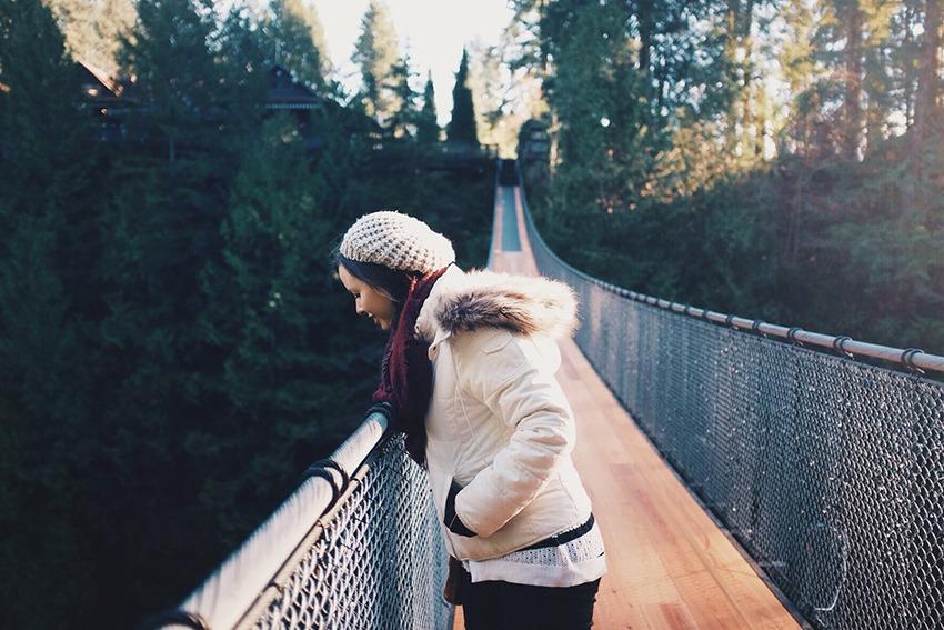 Ponte Suspensa de Capilano, em North Vancouver.