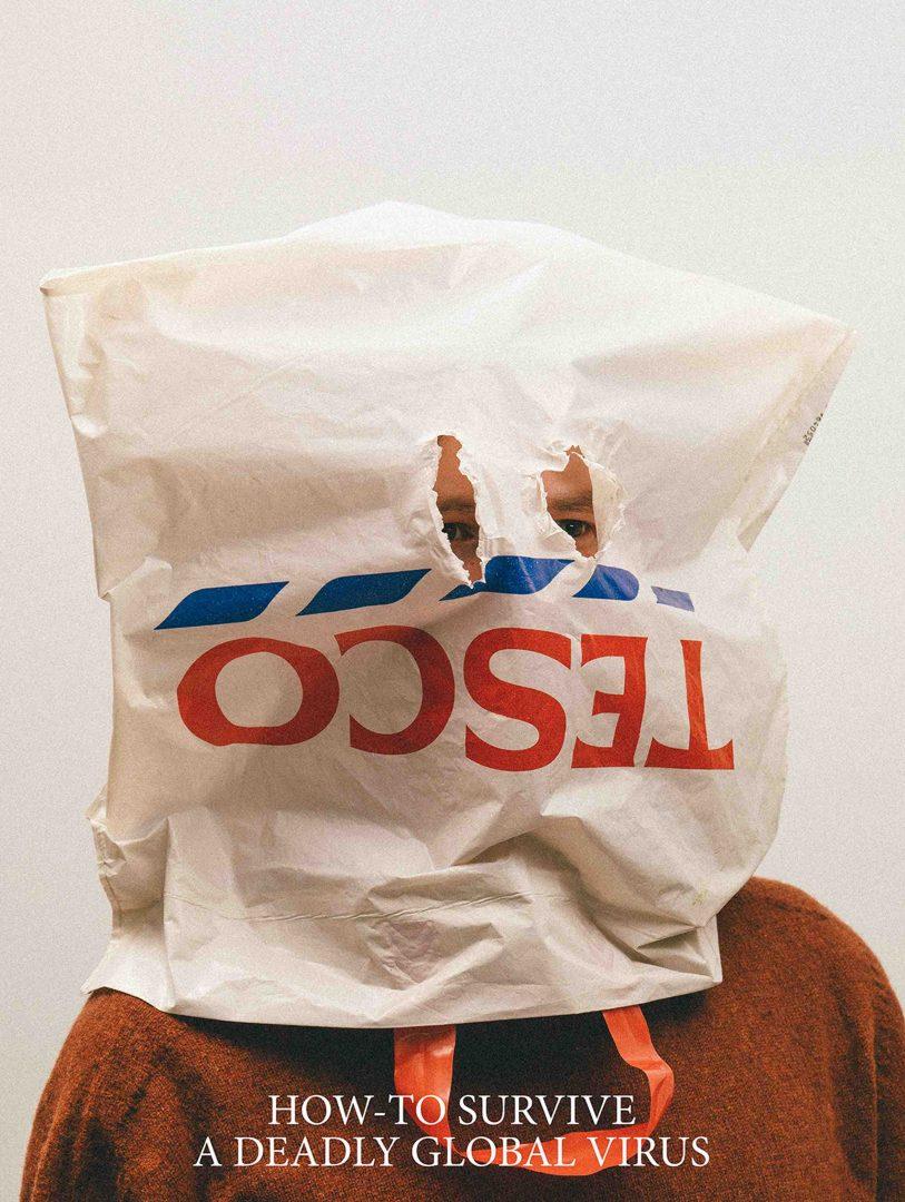 Máscaras Caseiras feitas com sacolas