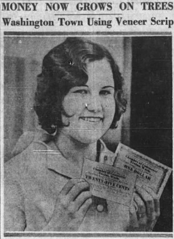 moeda social anos 30