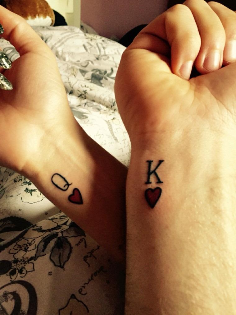 tatuagem de baralho para casal