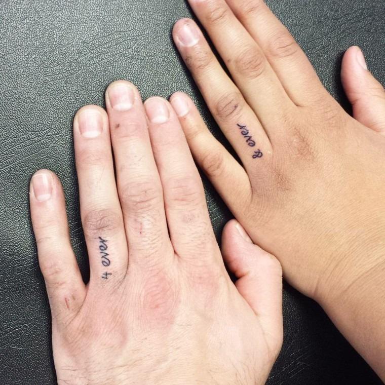 tatuagem delicada, 4 ever, para casais