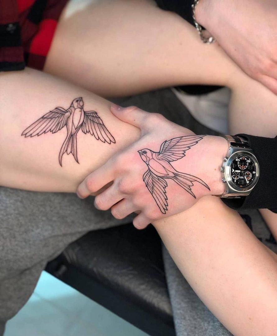 tattoo de casal moderna